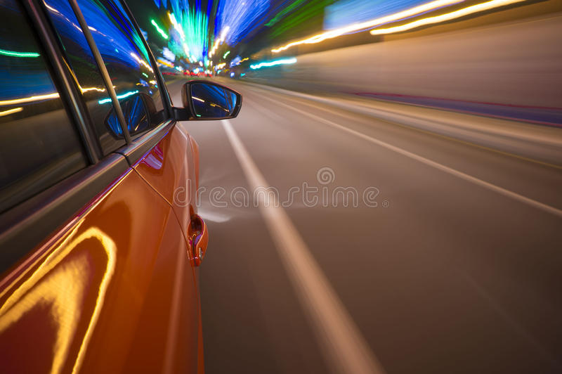 Samochodowa ruch plama fotografia stock