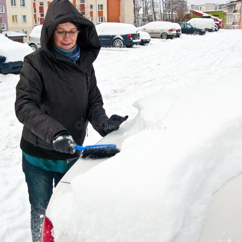 samochodowa target1379_0_ śnieżna kobieta zdjęcie stock
