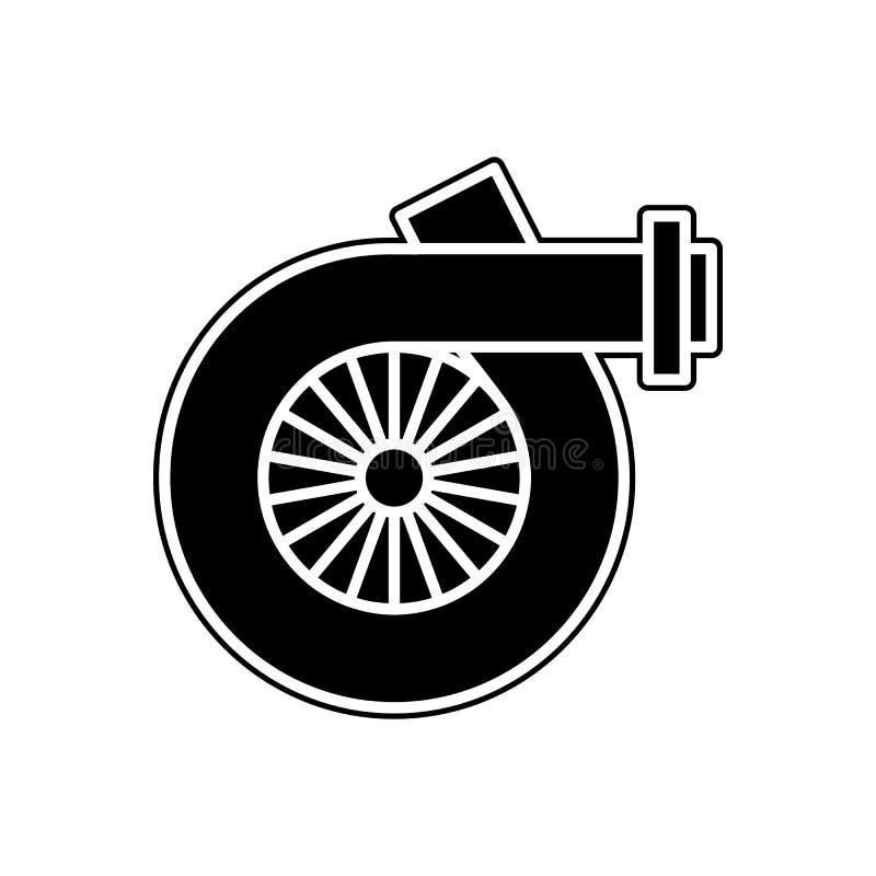 samochodowa Turbo ikona Element samochody usługowi i remontowe części dla mobilnego pojęcia i sieci apps ikony Glif, mieszkanie k ilustracji