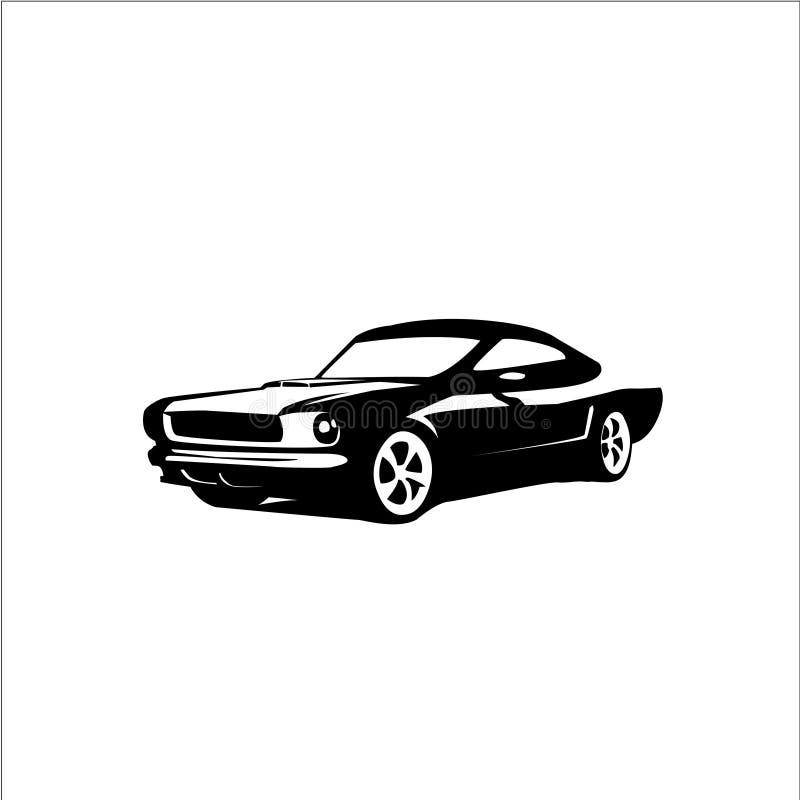 Samochodowa Wektorowa sylwetka | Mustanga Fastback royalty ilustracja