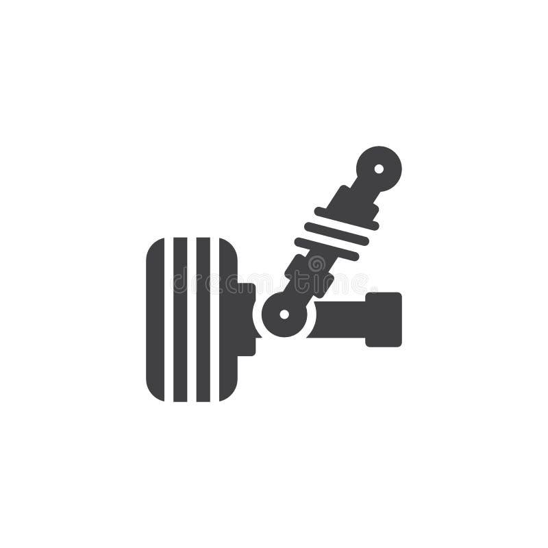 Samochodowa zawieszenie wektoru ikona ilustracji
