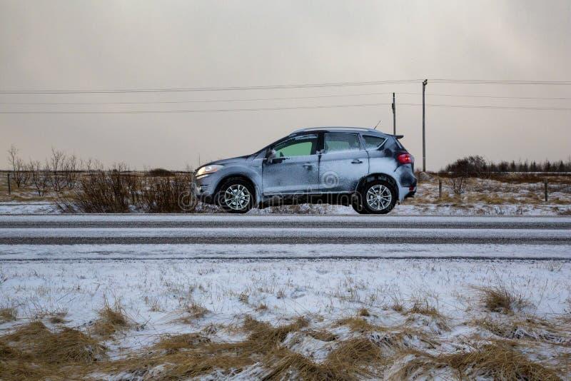 Samochodowa zima zdjęcia royalty free