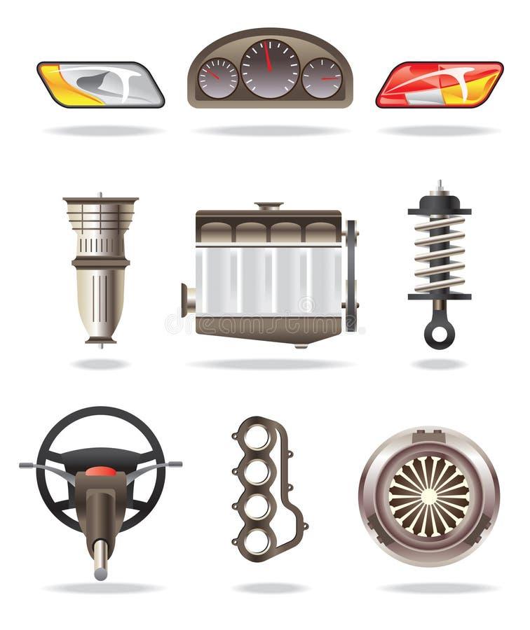 samochodowe część royalty ilustracja