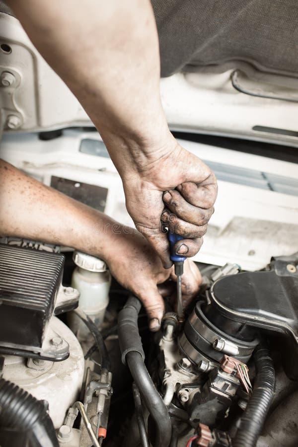 Samochodowe naprawy zdjęcie royalty free
