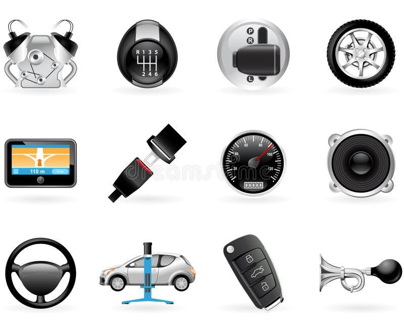samochodowe opcje ilustracja wektor