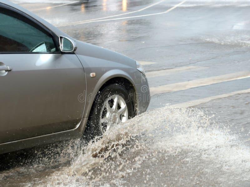 samochodowe powodzie fotografia stock