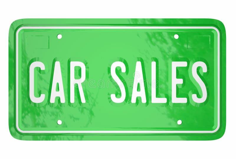 Samochodowe sprzedaż Automobilowego pojazdu wytwórcy sprzedawania klientów wszy ilustracja wektor