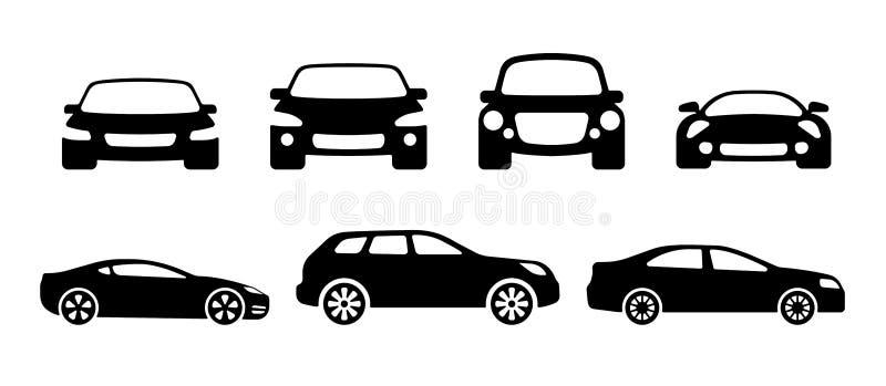 Samochodowe sylwetki royalty ilustracja