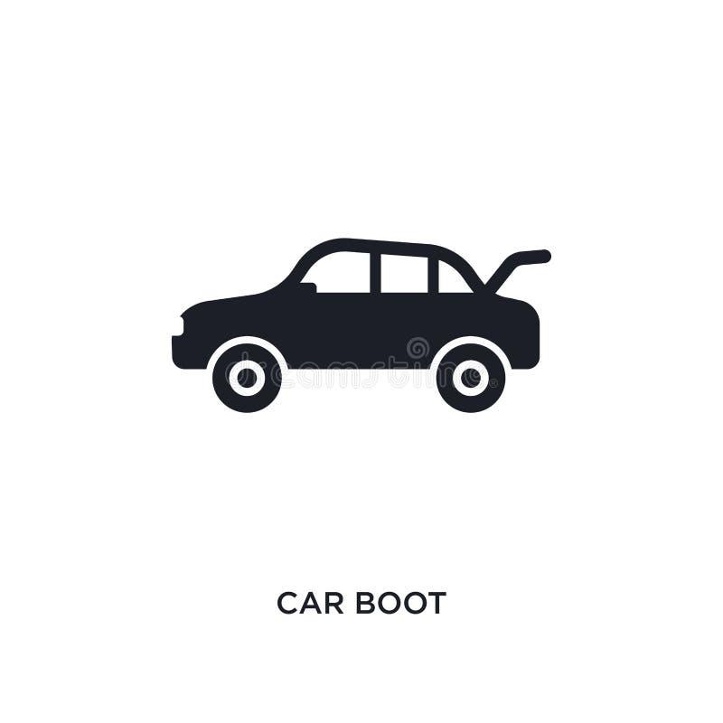samochodowego buta odosobniona ikona prosta element ilustracja od samochodu rozdziela pojęcie ikony samochodowego buta logo znaka royalty ilustracja