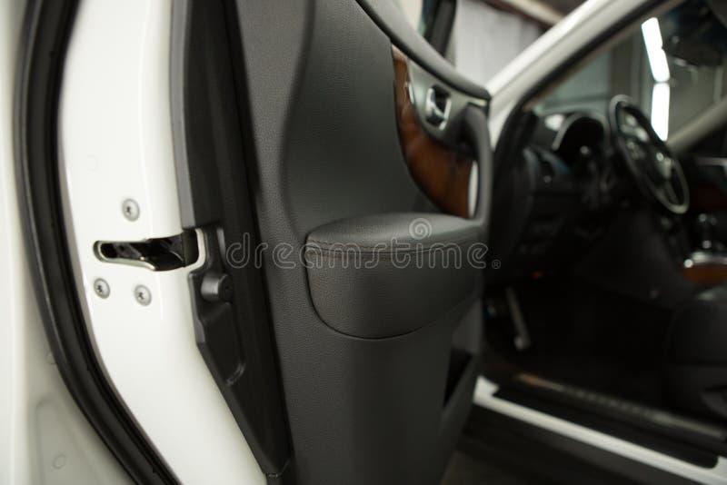 Samochodowego drzwi panelu zbli?enie zdjęcie stock