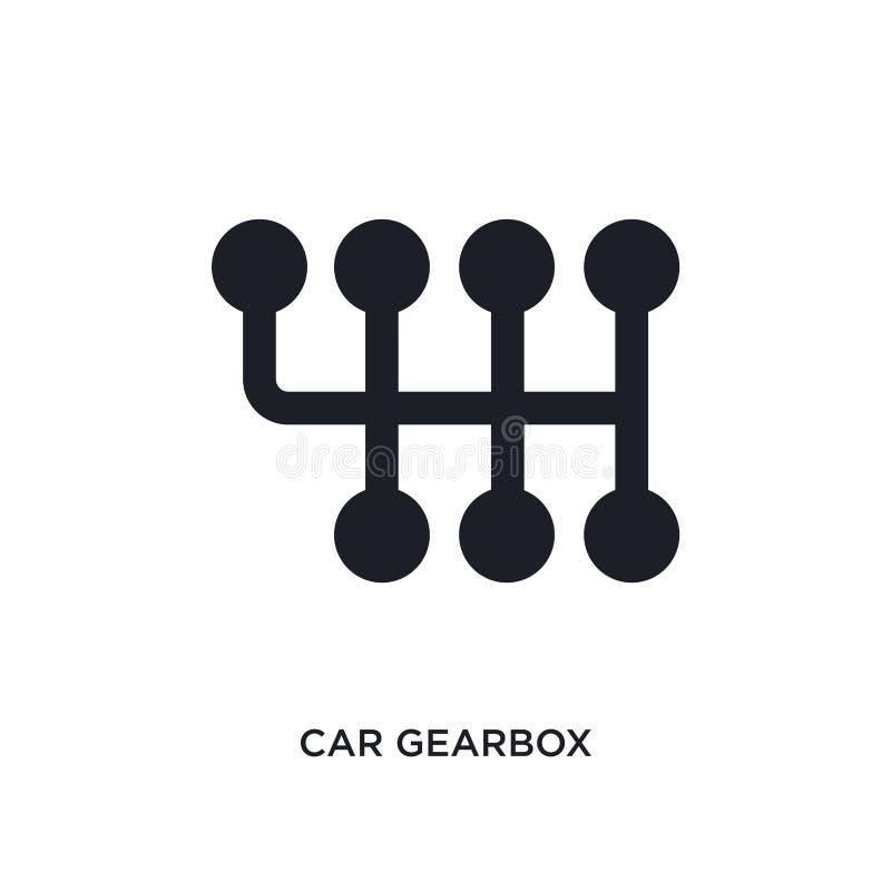 samochodowego gearbox odosobniona ikona prosta element ilustracja od samochodu rozdziela pojęcie ikony samochodowego gearbox logo ilustracji
