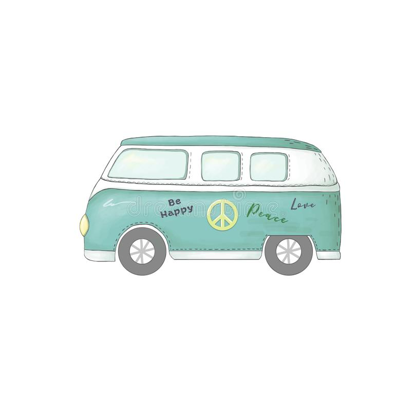 Samochodowego klamerki sztuki ilustraci transportu pokoju auto samochód na białym tle obraz stock