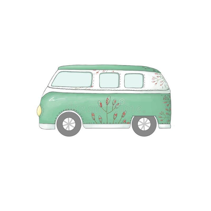 Samochodowego klamerki sztuki ilustraci transportu pokoju auto samochód na białym tle ilustracja wektor