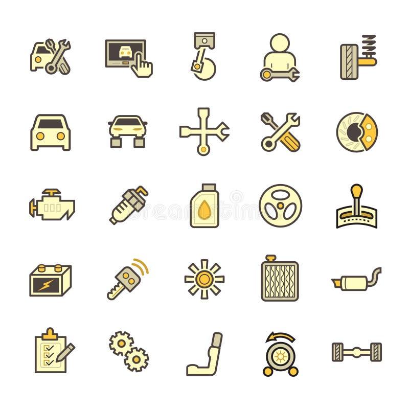 Samochodowego mechanika ikona ilustracji