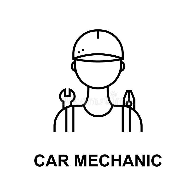 Samochodowego mechanika ikona Element samochód naprawa dla mobilnych pojęcia i sieci apps Szczegółowa ikona może używać dla sieci ilustracji