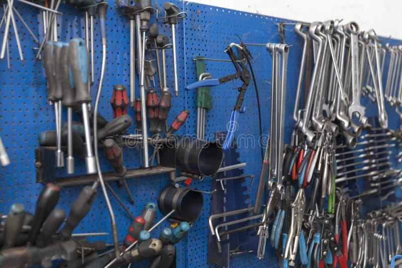 Samochodowego mechanika narzędzie zdjęcie royalty free