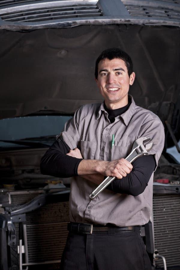 samochodowego mechanika portret zdjęcia stock