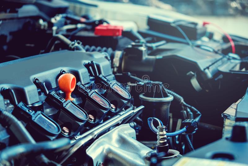 Samochodowego mechanika samochodu remontowa usługa fotografia royalty free