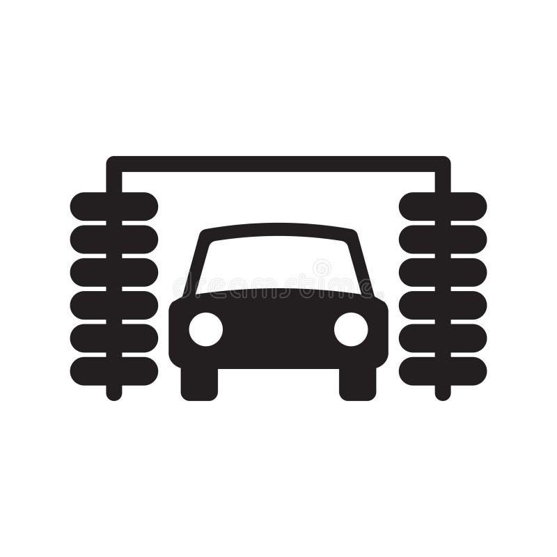 Samochodowego obmycia ikona royalty ilustracja