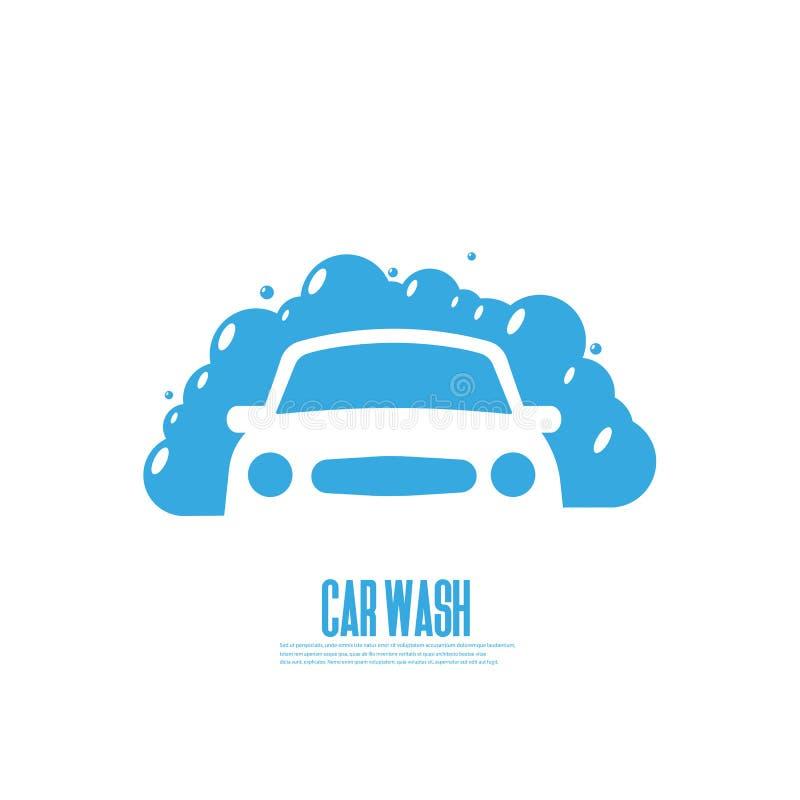 Samochodowego obmycia ikona ilustracja wektor