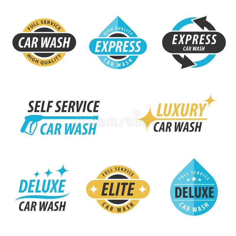 Samochodowego obmycia logo ilustracja wektor