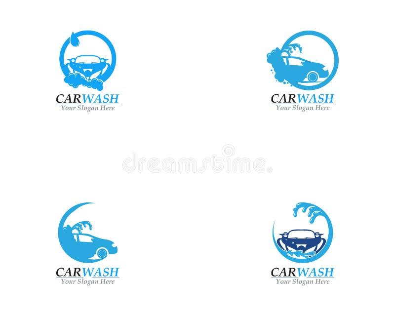 Samochodowego obmycia logo szablonu Biznesowy projekt royalty ilustracja