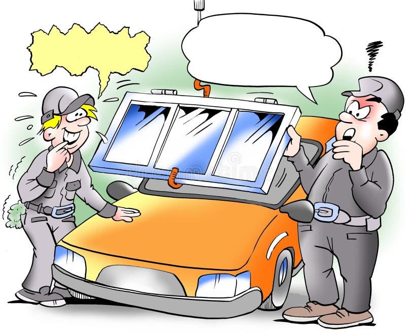Samochodowego okno zmiana royalty ilustracja