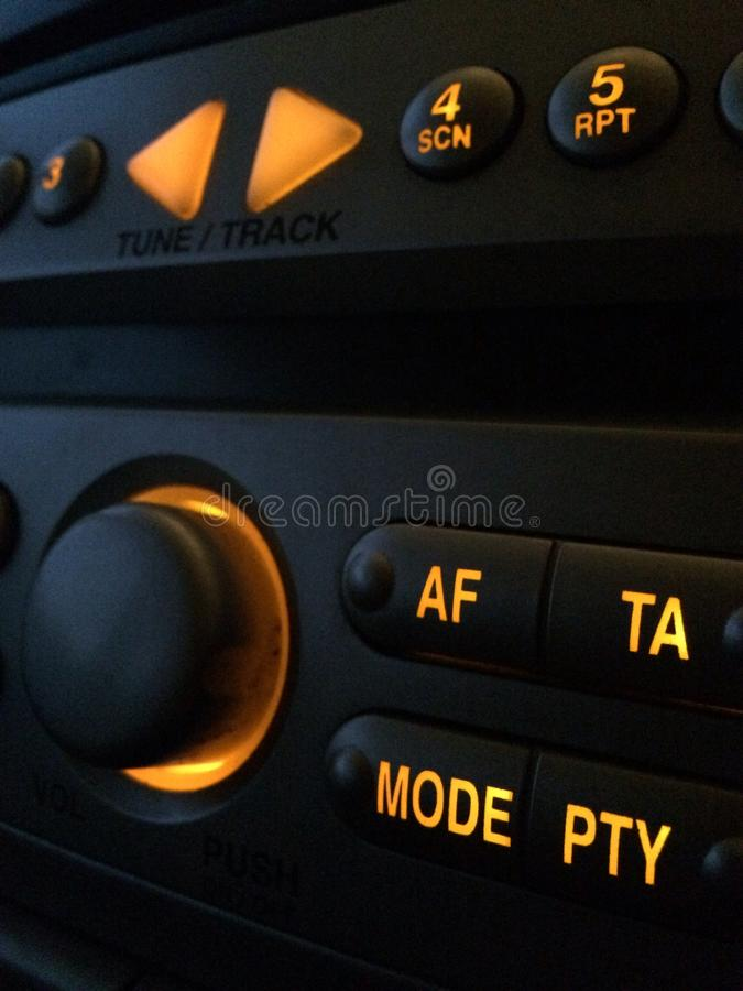 Samochodowego radia stereo obrazy stock