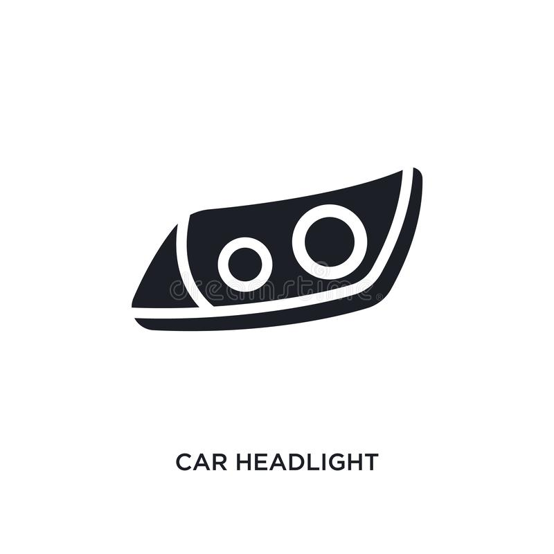 samochodowego reflektoru odosobniona ikona prosta element ilustracja od samochodu rozdziela pojęcie ikony samochodowego reflektor royalty ilustracja