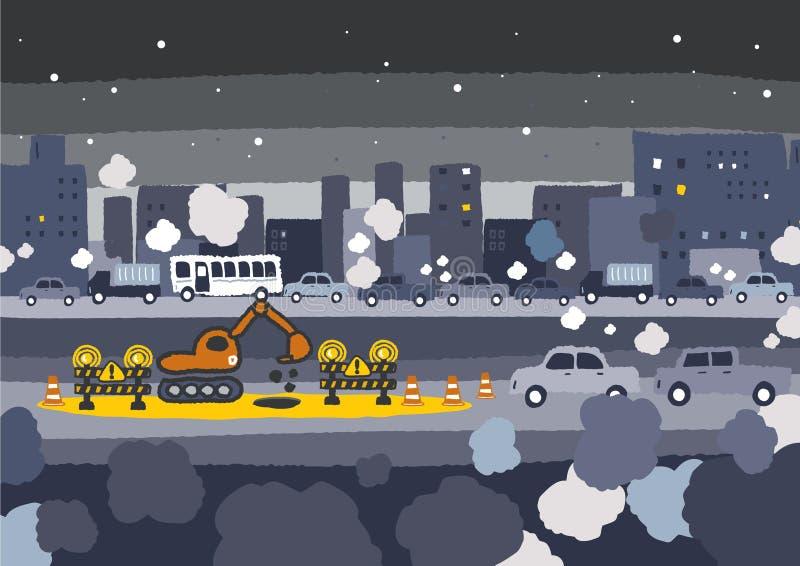 Samochodowego ruchu drogowego dżem ilustracja wektor