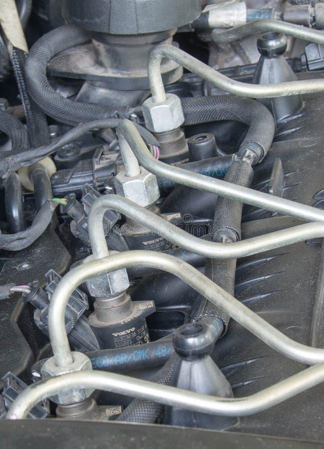 Samochodowego silnik diesla paliwowi inżektory zdjęcia royalty free