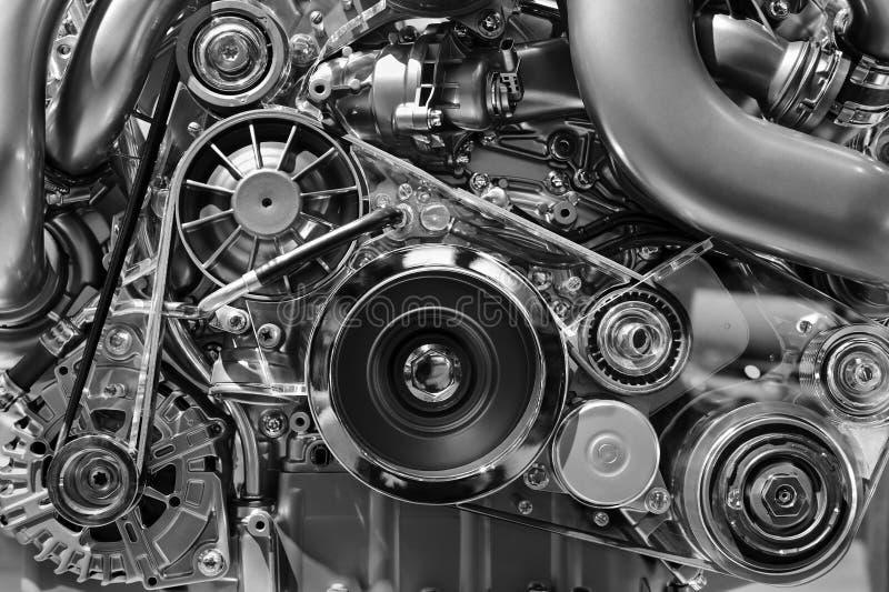Samochodowego silnika monochrom obrazy royalty free