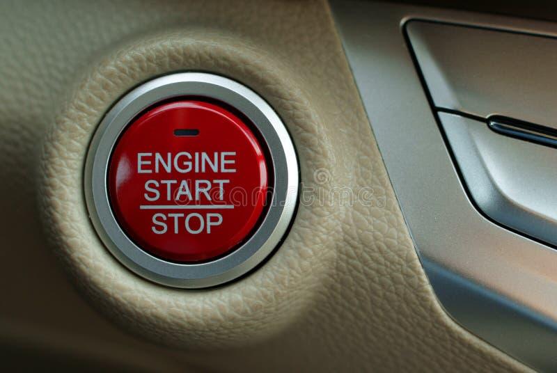 Samochodowego silnika początku guzik zdjęcie royalty free
