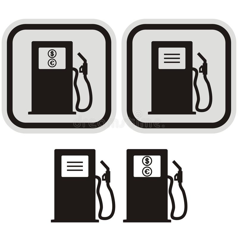 samochodowej karmy benzynowa stacja twój ilustracja wektor