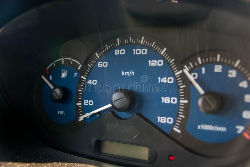 samochodowej konsoli deski rozdzielczej elektroniczna nawigacja obraz stock