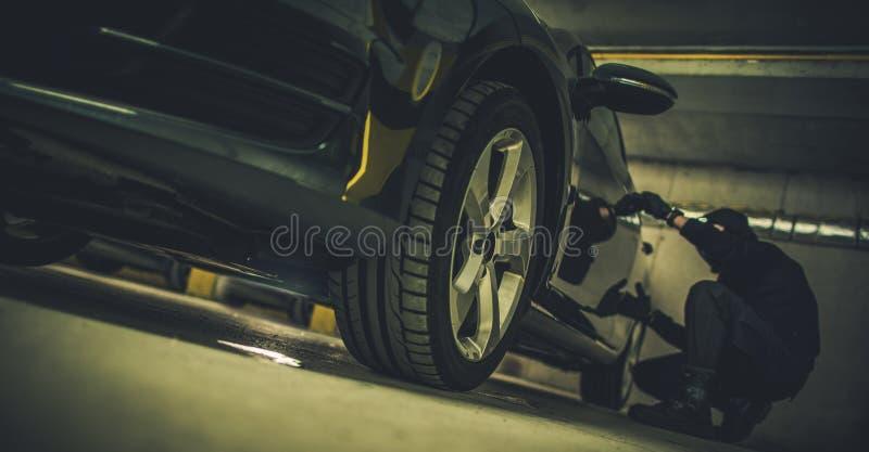 Samochodowej kradzie?y poj?cie zdjęcia royalty free