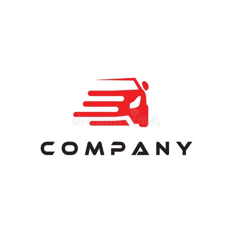 Samochodowej logo projekta wektorowej ikony ilustracyjna inspiracja z nowożytnym ilustracyjnym pojęcie stylem Samochód z prędkośc ilustracja wektor