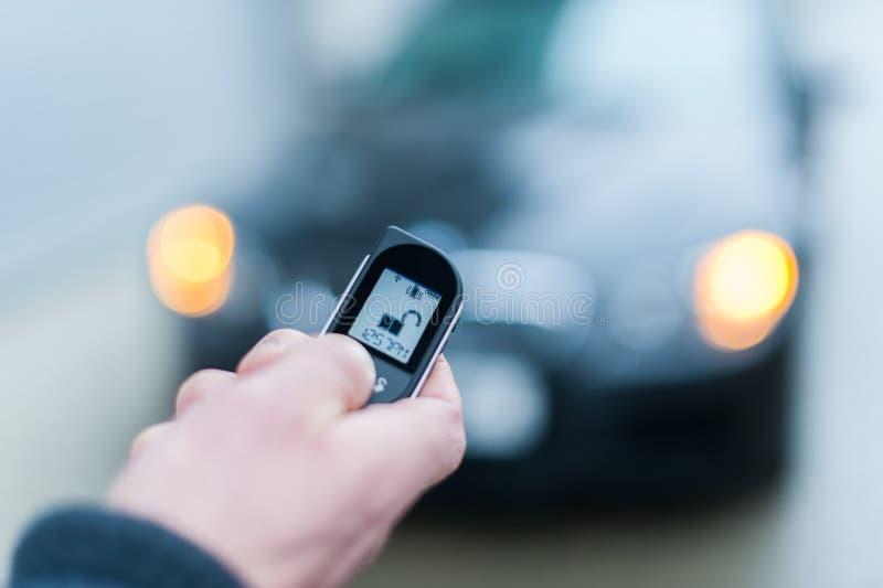 Samochodowej ochrony alarmowy system otwarty zdjęcia royalty free