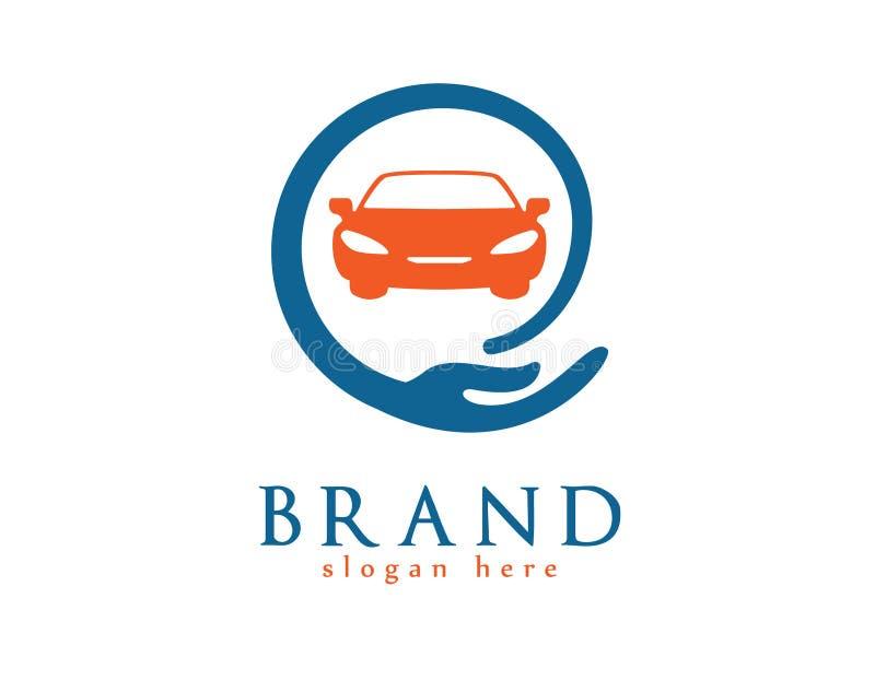 Samochodowej opieki logo ilustracji