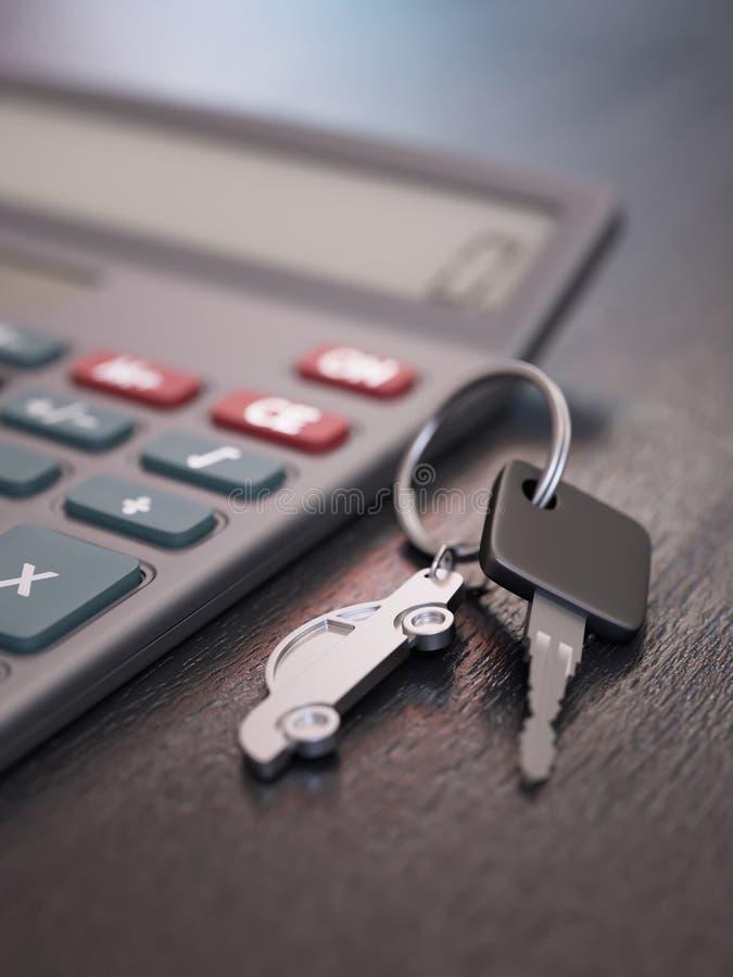 Samochodowej pożyczki obliczenie zdjęcia royalty free