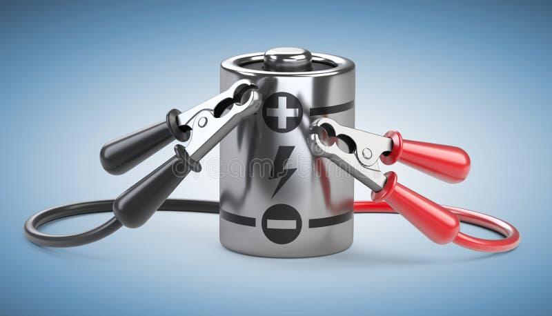 Samochodowi bluza kable dla ładunek baterii Źródła zasilania pojęcie ilustracja wektor