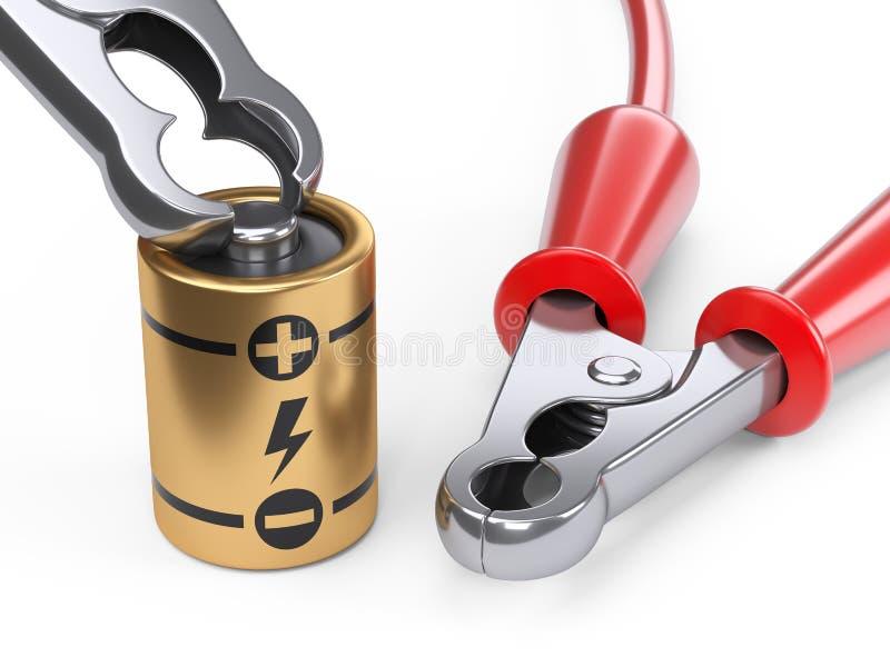 Samochodowi bluza kable dla ładunek baterii Źródła zasilania pojęcie royalty ilustracja