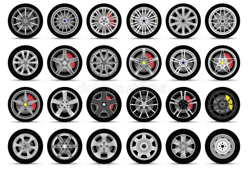 Samochodowi koła Ustawiający royalty ilustracja