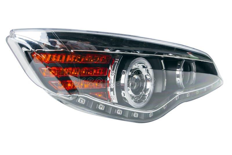 Samochodowi reflektory na bielu zdjęcie royalty free