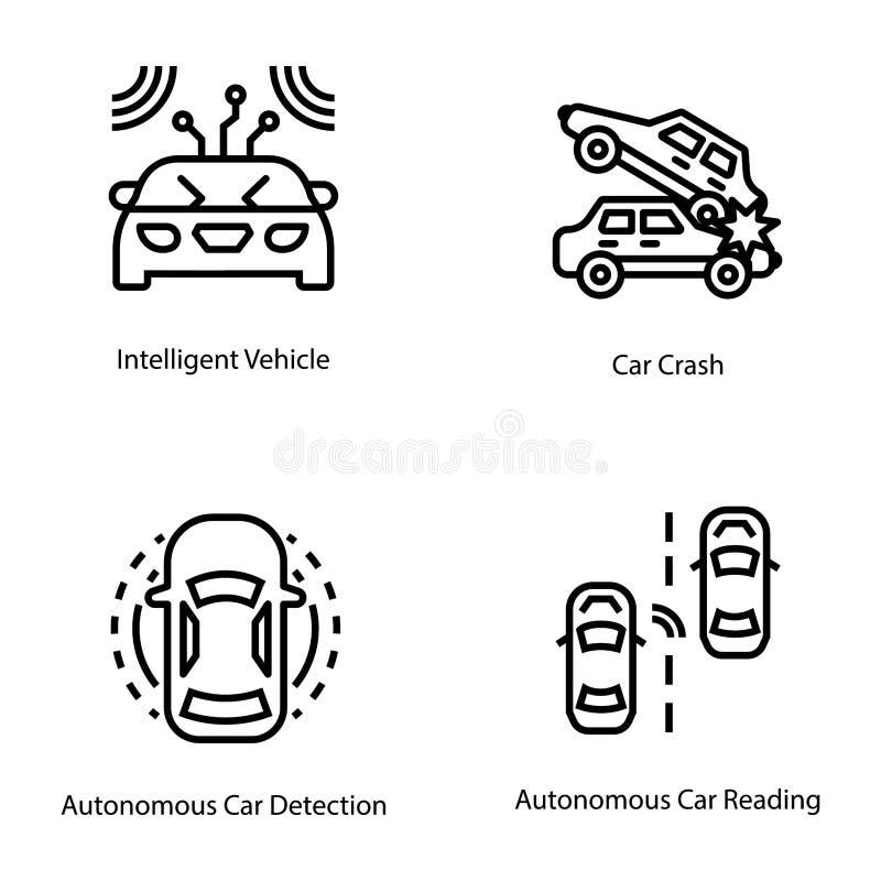 Samochodowi technologii linii wektory ilustracja wektor