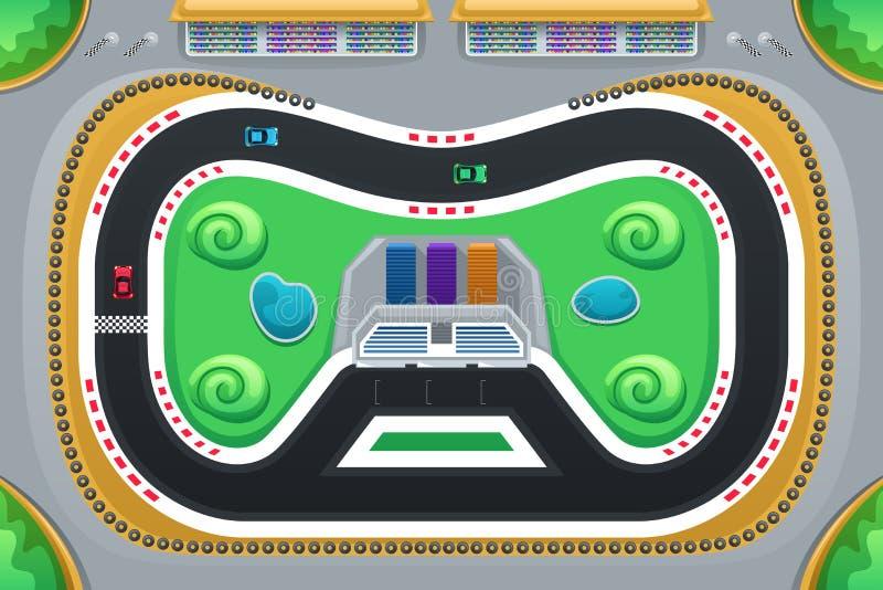 Samochodowy Ścigać się gra Przeglądać od Above ilustracja wektor