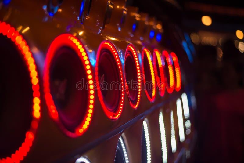 Samochodowy audio obraz stock