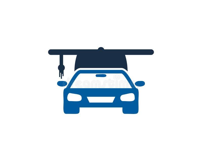 Samochodowy Auto edukaci ikony loga projekta element ilustracji