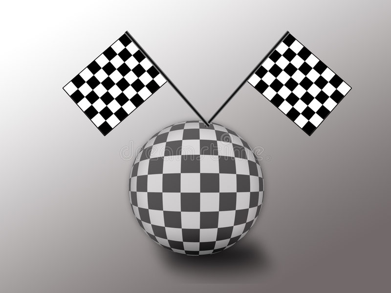 Samochodowy bieżny świat royalty ilustracja