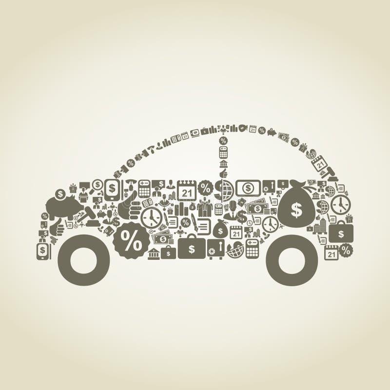 Samochodowy biznes royalty ilustracja